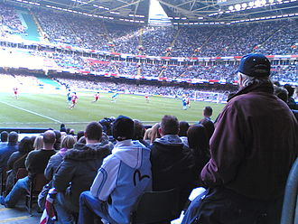 Bristol Rovers F.C. - Rovers fans at the Football League Trophy final at the Millennium Stadium, Cardiff in 2007