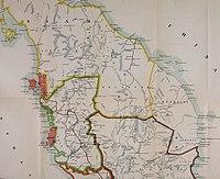 Карта Малайского полуострова 1907 года