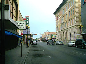 "Brownsville, Texas - Picture of Brownsville; on the right is the ""Old Federal Courthouse"", where city commission meetings are held."