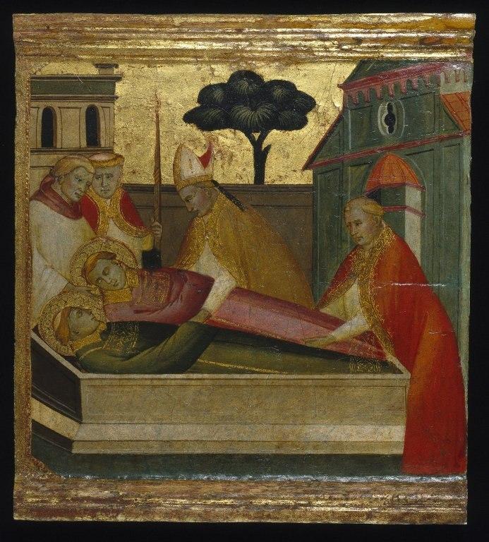 Brooklyn Museum - Saint Lawrence Buried in Saint Stephen's Tomb - Lorenzo di Niccolò