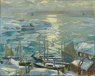 Jonas Lie (painter) - Image: Brooklyn Museum The Old Ships Draw to Home Again Jonas Lie overall