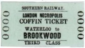 London Necropolis Company - Image: Brookwood Coffin Ticket