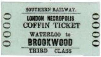 London Necropolis Company - Image: Brookwood Coffin Ticket