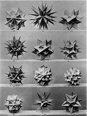 Max Brückner - Photo of polyhedra models by Brückner.