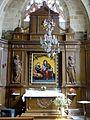 Bruyères-le-Châtel (91), église Saint-Didier, chapelle sud, retable.jpg