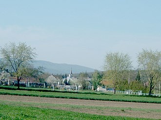 Bucsu - A shot of the Saint Michael Church and the historical center of the village.