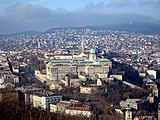 Budapest, view to Buda Castle Hill and Buda Hills.jpg