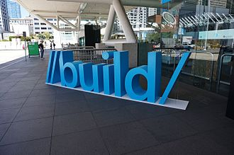 Build (developer conference) - Sign for Microsoft's Build 2013 conference at the Moscone Center entrance in San Francisco