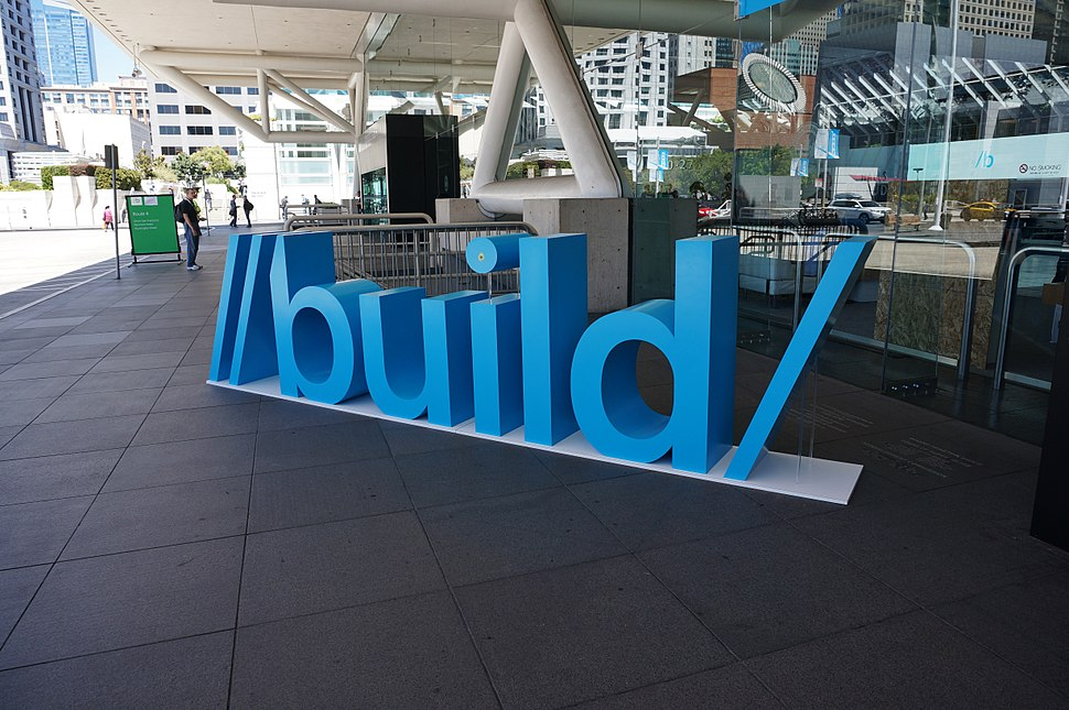 Build 2013 sign