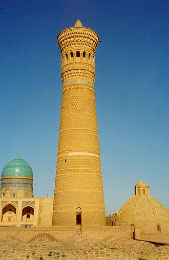 Po-i-Kalyan - Brick Kalan minaret.