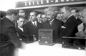 Internationale Funkausstellung Berlin - Einstein opens the IFA in 1930