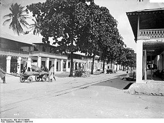 Tanga, Tanzania - Usambara St. in Tanga, German East Africa between 1906 and 1918
