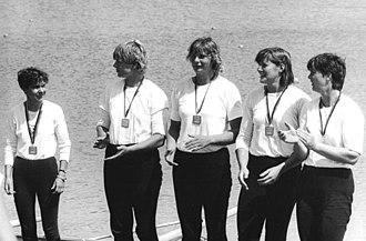 Jutta Abromeit - Abromeit (middle) in 1985