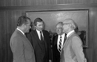 Czesław Kiszczak - Kiszczak - SED chief Erich Honecker meeting 1988