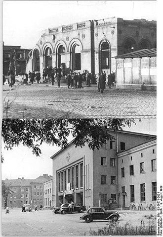 Dessau Hauptbahnhof - 1945 (above), 1959 (below)