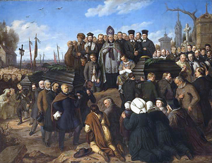 Aleksander Lesser - The Funeral of the Five Fallen in 1861 (1861)