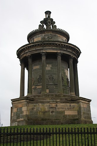1831 in Scotland - Image: Burns Monument, Edinburgh by Thomas Hamilton
