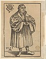 Bust of Saint Peter, from the Large Series of Wittenberg Reliquaries; verso- Martin Luther (1548) MET DP832144.jpg