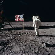 Buzz Aldrin lors d'Apollo 11