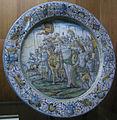 C.sf., castelli, francesco grue, piatto con trionfo di due cesari, 1650-1660.JPG
