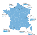 CALYM locations in France.png