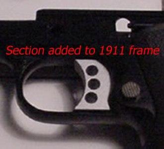 Colt Delta Elite - Original design before improvement to allow flexing.