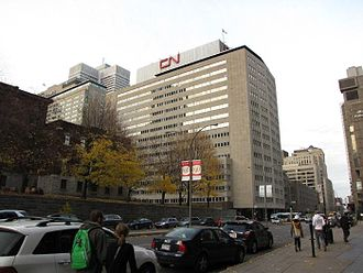 The headquarters of CN in Downtown Montreal CN HQ 03.jpg