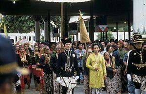 Hamengkubuwono X - Coronation of Hamengkubuwono X and Hemas in 1989