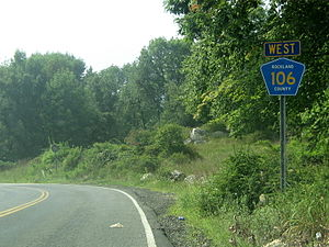 County Route 106 (Rockland County, New York) - CR 106's western terminus at the Rockland/Orange County line.