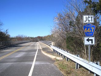 County Route 567 (New Jersey) - CR 567's bridge over the South Branch Raritan River facing north