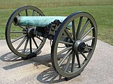 Napoleon cannon, similar to those used by the battery
