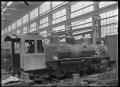 C class 2-6-2 steam locomotive, New Zealand Railways no 851, under construction at Hutt Railway Workshops, Woburn. ATLIB 290099.png