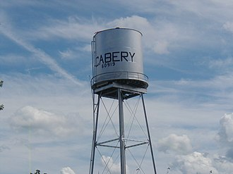 Cabery, Illinois - The water tower in Cabery IL.