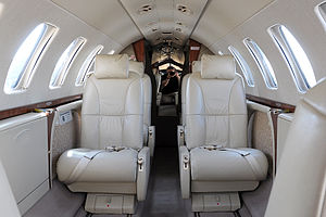 Cabin of Cessna 525B CitationJet 3.jpg
