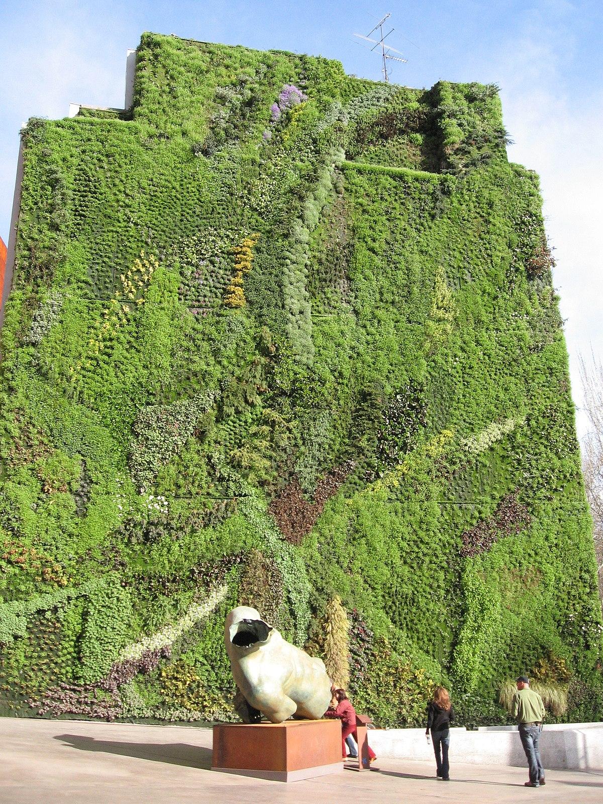 Giardino verticale wikipedia for Architettura giardini