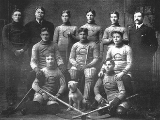 Reddy McMillan - Reddy McMillan, third from left in the top row, with the Calumet-Laurium Miners in the 1904–05 IPHL season.