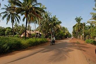 Transport in Cambodia - A rural road in Cambodia.