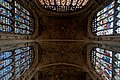 Cambridge - King's College Chapel 1446-1544 - Antechapel - View Up on Fan Vaults, Stained Glass & Tudor Roses II.jpg