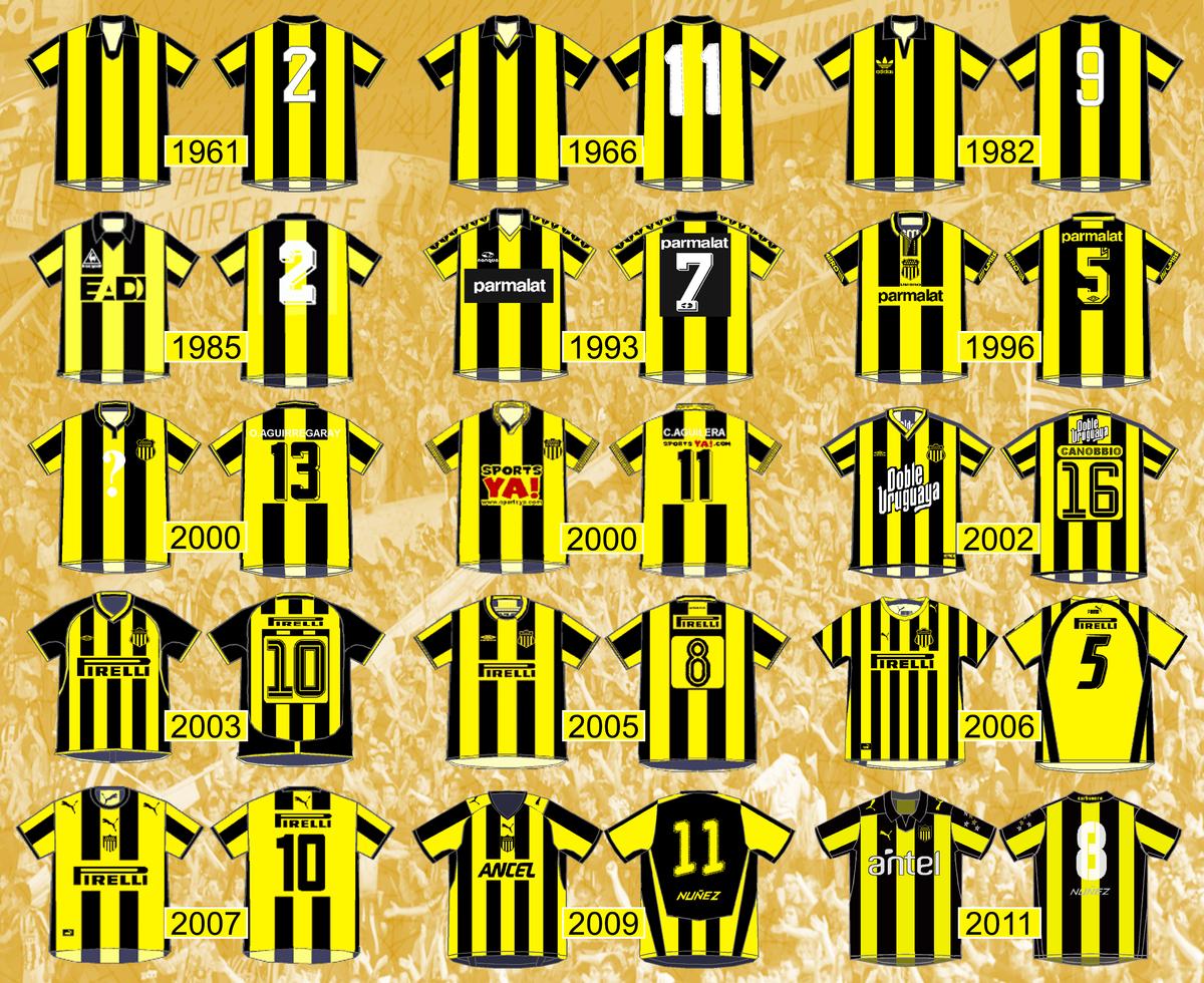 características sobresalientes disponibilidad en el reino unido diseño de moda Historia del uniforme del Club Atlético Peñarol - Wikipedia ...
