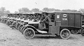 United States Army Ambulance Service - USAAS personnel in training at Camp Crane