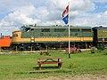 Canadian National Railway (CN) locomotive 9000 EMD F3A at Alberta Railway Museum 02-Aug-2004.jpg