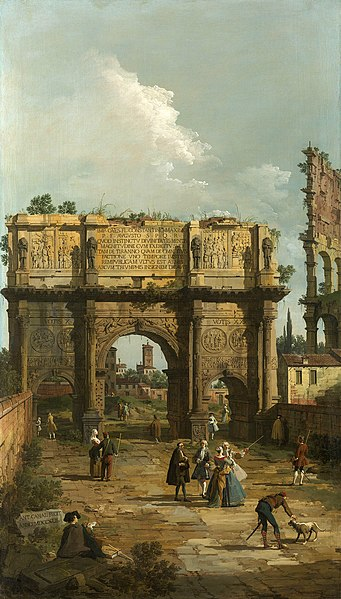 Tiedosto:Canaletto, Rome - the Arch of Constantine, 1742.jpg