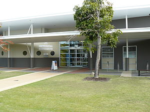 Capalaba, Queensland - The entrance to the Capalaba Library, located between the Capalaba Park and Capalaba Central shopping centres, adjacent to the Capalaba bus station.