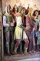 Cappella della casa di anna, gesù davanti al sommo sacerdote anna, della bottega di giovanni della robbia 05.jpg