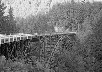 Carbon River - The 494-foot long Fairfax Bridge was the highest bridge in the state when it was built in 1921.