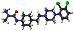 Cariprazine ball-and-stick model.png