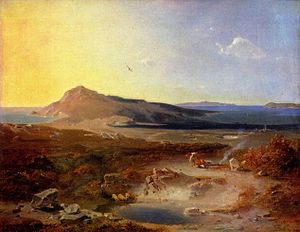 Delos - The island of Delos, Carl Anton Joseph Rottmann, 1847