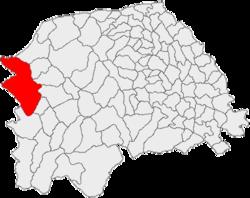 Vị trí của Cârlibaba