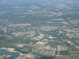 Carlisle, Ohio - Aerial view of Carlisle