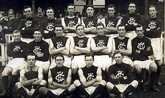 Carlton Football Club - The 1914 Carlton team photographed at the old East Melbourne Cricket Ground.